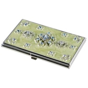 Visol Visol Meridian light Green lacquer With Blue Crystals Womens Business Card Case (VISOl2762)