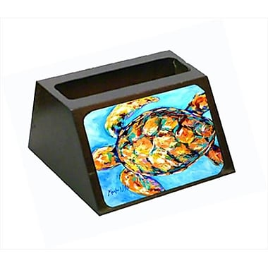 Carolines Treasures Sand Dance Turtle Decorative Desktop Professional Wooden Business Card Holder (CRlT55660)