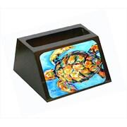 Carolines Treasures Sand Dance Turtle Decorative Desktop Professional Wooden Business Card Holder (CRlT55660)