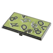 Visol Visol Katya Green lacquer with Crystals Womens Business Card Case (VISOl2770)