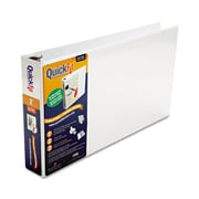 Schneider. Quick Fit ledger D-Ring Binder, 2'' Capacity, 11 x 17, White (AZERTY21818)