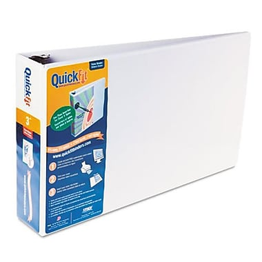 Schneider. Quick Fit ledger D-Ring Binder, 3'' Capacity, 11 x 17, White (AZERTY21819)