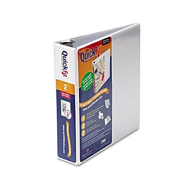Schneider. Quick Fit D-Ring View Binder, 2'' Capacity, White (AZERTY21814)