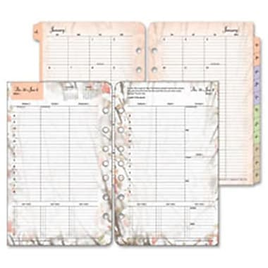 Franklin Covey Co. Weekly Refill, 2PPW, Jan-Dec, 5.5 in. x 8.5 in., Floral (SPRCH36986)