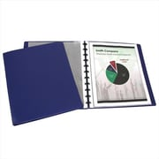 C-line Products Binder Builder Portfolio Closed Spine Blue with 15 Sheet Protectors 11 x 8-.5 - Set of 3 (ClNP307)