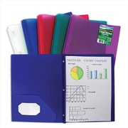 C-line Products Ecological Two-Pocket Heavyweight Poly Portfolio with Prongs - Color May Vary - Set of 12 Folders (ClNP068)