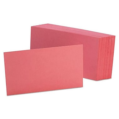 Oxford 3 x 5 Unruled Index Cards - Cherry (AZTY10650)