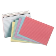Oxford 4 x 6 Spiral Index Cards - 50 Cards, Assorted Colors (AZTY10630)