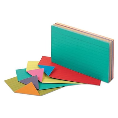 Oxford 3 x 5 Extreme Index Cards - Vivid Assorted (AZTY10625)