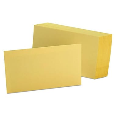 Oxford 3 x 5 Unruled Index Cards - Canary (AZTY10649)