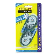 """Tombow Mono MONO Wide-Width Correction Tape- Non-Refillable- 1/4"""" x 394""""- 2/Pack (AZTOMB68682)"""
