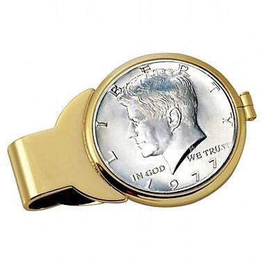 JFK Half Dollar Goldtone Money Clip (RTl54194)