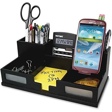 Victor Technologies Desk Organizer With Smartphone Holder, Black (AZTY16282)