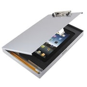 Saunders Storage Clipboard with iPad Air Compartment, 8.5 x 12 - Silver (AZTY13957)