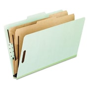 Esselte Pendaflex Pressboard Classification Folders, letter, 1 divider-6-Section, Green, 10-Box (AZERTY12349)