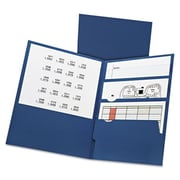 Oxford 11 x 8.5 Divide It Up Four-Pocket Paper Folders - Navy (AZTY10634)