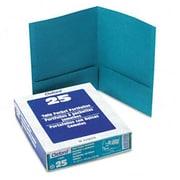 Esselte Pendaflex Twin-Pocket linen Paper Portfolio Teal (AZRESS53442)