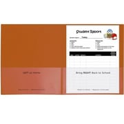 C-line Products 25CT Classroom Connector Folders, Orange (EDRE51778)