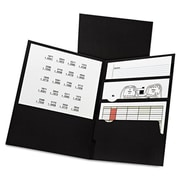 Oxford 11 x 8.5 Divide It Up Four-Pocket Paper Folders - Black (AZTY10635)