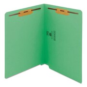 Smead Manufacturing WaterShed and Cutless End Tab 2 Fastener Folders, Green (AZTY14384)