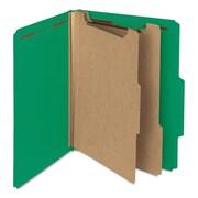 Smead Manufacturing Pressboard Classification Folder, Green (AZTY14375)