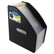 C-line Products 13-Pocket Vertical Expanding File letter Size Black - Set of 2 Files (ClNP205)