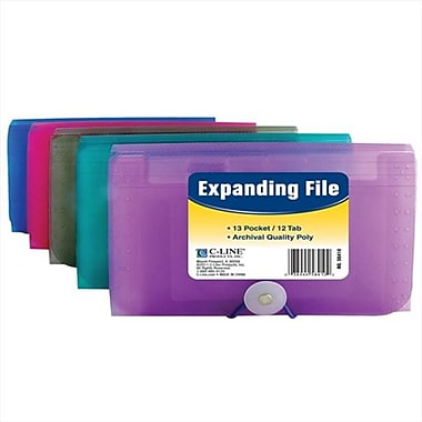 C-line Products 13-Pocket Coupon Size Expanding File - Color May Vary - Set of 8 Files (ClNP200)