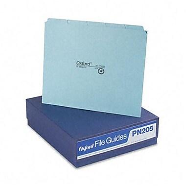 Esselte Pendaflex Top Tab File Guides Blank 1/5 Tab 25 Point Pressboard letter 50 per Box (AZRESSPN205)