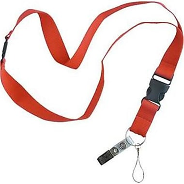 lucky line Products Flat lanyard Assorted Color, 18 in. (JNSN77962)