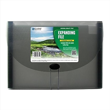 C-line Products Ecological 13-Pocket letter Size Expanding File Smoke - Set of 3 Files (ClNP159)