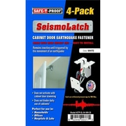 Safe-T-Proof Disaster Preparedness Seismolatch Earthquake Activated Cabinet latch, White (SFTPRP021)