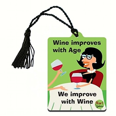 Grimm Wine Improves with Age We Improve with Wine Bottle Gift Magnet Tag (GC22983)