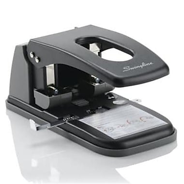 Swingline Extra Heavy-Duty Two-Hole Punch, 0.28 in. Holes - Black and Gray (AZTY15236)