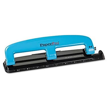 Accentra 12-Sheet Capacity Compact Three-Hole Punch, Rubber Base, Blue-Black (AZERTY10657)