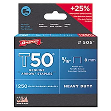 Arr T50 Type Staples, 0.31 in. Wire (AZTY01249)