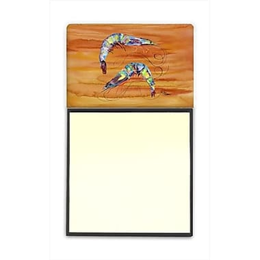 Carolines Treasures Shrimp Refiillable Sticky Note Holder Or Postit Note Dispenser, 3 x 3 In. (CRlT59380)