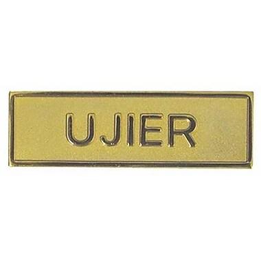Swanson Christian Supply Usher Pin Back Rectangle Gold Spanish - Badge (ANCRD278)