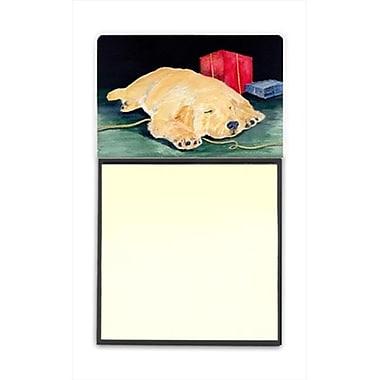 Carolines Treasures Golden Retriever Refiillable Sticky Note Holder or Postit Note Dispenser (CRlT60492)