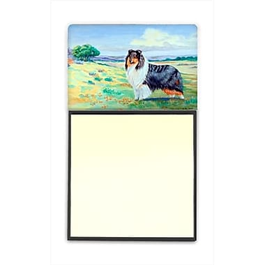 Carolines Treasures Collie Refiillable Sticky Note Holder Or Postit Note Dispenser, 3 x 3 In. (CRlT58569)
