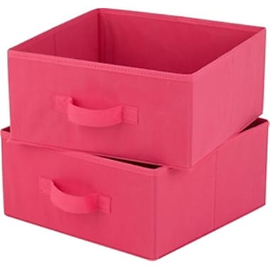 Honey-Can-Do 11.5 x 11.5 x 5.5 Drawer for Hanging Organizer, Pink Polyester (DGC105344)
