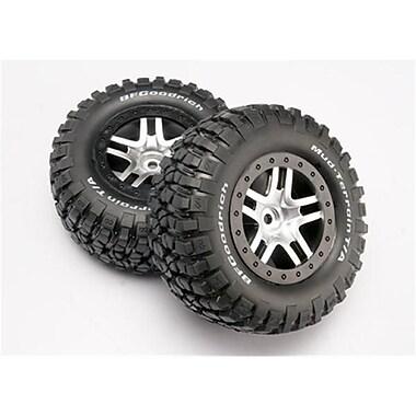 Traxxas Chrome Wheels-Mud Terrain Tires Assembled Slash 4x4 (RCHOB1366)