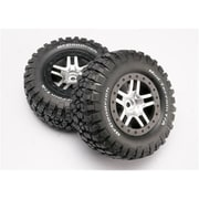 Traxxas Chrome Wheels-Mud Terrain Tires Assembled Slash 4x4 (RCHOB1366)