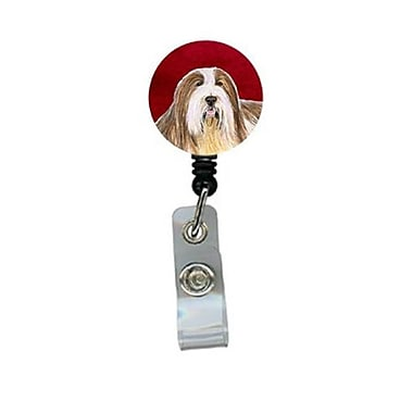 Carolines Treasures Bearded Collie Retractable Badge Reel or ID Holder with Clip (CRlT24424)