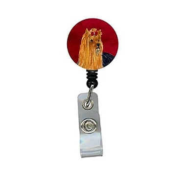 Carolines Treasures Yorkie Retractable Badge Reel or ID Holder with Clip (CRlT24593)