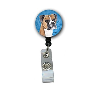 Carolines Treasures Boxer Retractable Badge Reel Or Id Holder With Clip (CRlT26782)