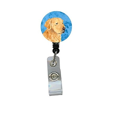 Carolines Treasures Golden Retriever Retractable Badge Reel Or Id Holder With Clip (CRlT27153)