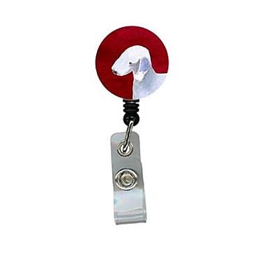 Carolines Treasures Bedlington Terrier Retractable Badge Reel or ID Holder with Clip (CRlT24490)