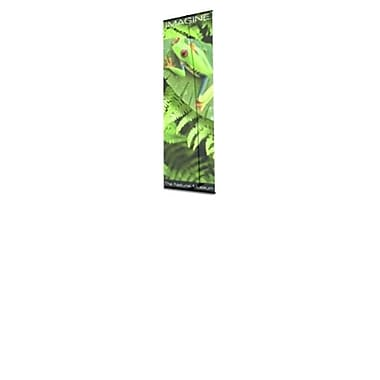 Testrite Visual Products Ultra UB Banner Stands 48 in. Single Ultra Banner Stand- Black (TTVSP255)