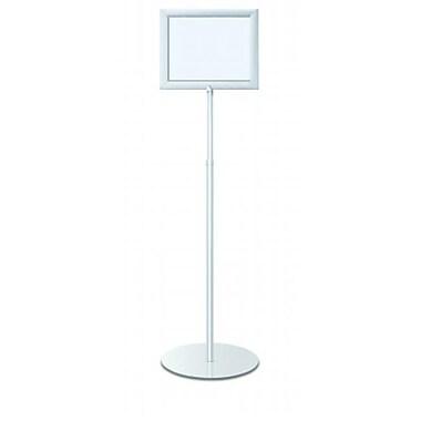 Testrite Visual Products Perfex Pedestal Frames Perfex Pedestal Frames- Silver (TTVSP214)