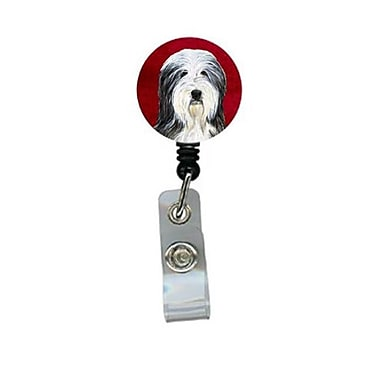 Carolines Treasures Bearded Collie Retractable Badge Reel or ID Holder with Clip (CRlT24375)